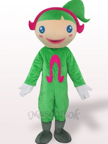 Green Ohm Plush Adult Mascot Costume