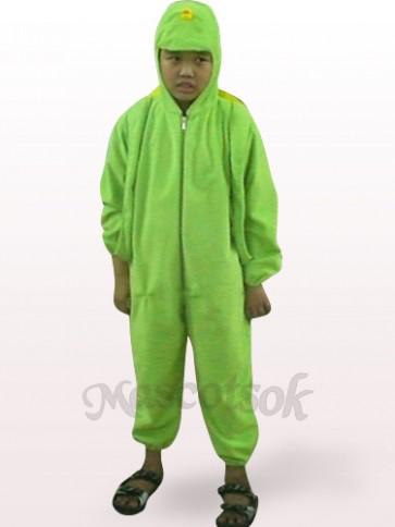 Green Tortoise Open Face Kids Plush Mascot Costume