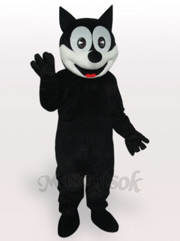 Happy Cat Short Plush Adult Mascot Costume