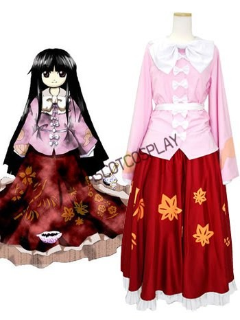 Imperishable Night Kaguya Houraisan Cosplay Costume