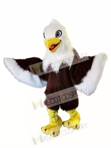 Long Fur White Head Eagle Mascot Costume