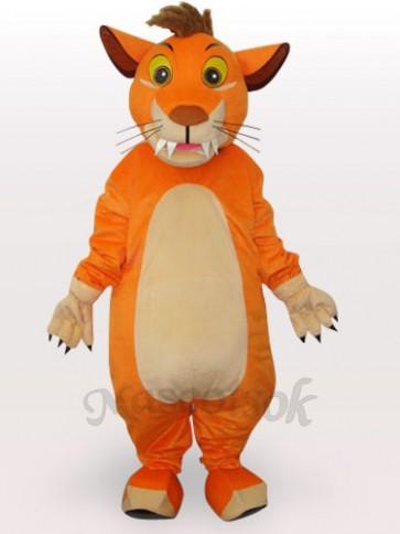 Lion Short Plush Adult Mascot Costume