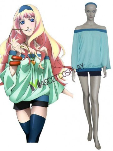 Macross Frontier Sheryl Nome Chiffon Spandex Cosplay Costume