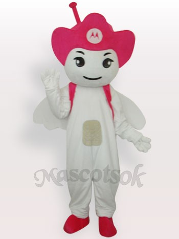 Moto Angel Short Plush Adult Mascot Costume