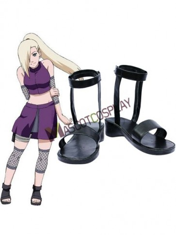 Naruto Yamanaka Ino Imitated Leather Rubber Cosplay Shoes