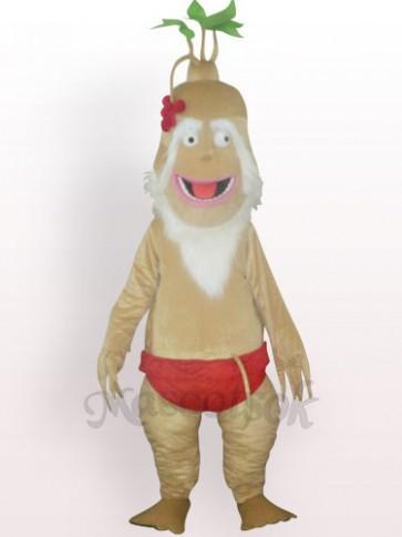 Old Ginseng Plush Adult Mascot Costume