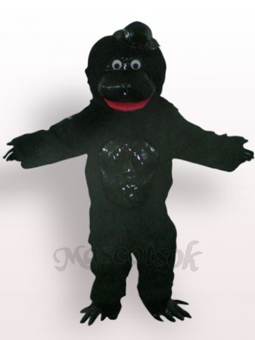 Orangutan With Black Hat Plush Adult Mascot Costume