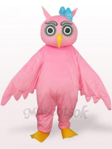 Pink Owl Plush Adult Mascot Costume