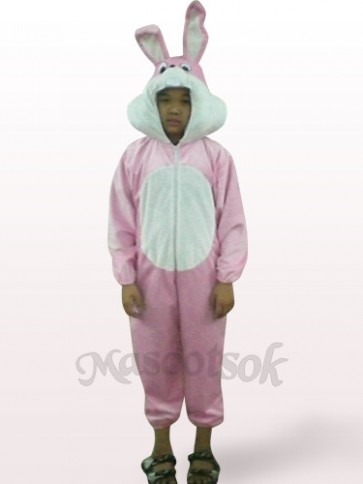 Easter Pink Rabbit Open Face Kids Plush Mascot Costume