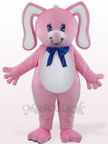 Easter Pink Rabbit With Floral Ears Plush Mascot Costume