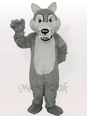 Plush Timber Wolf Adult Mascot Funny Costume