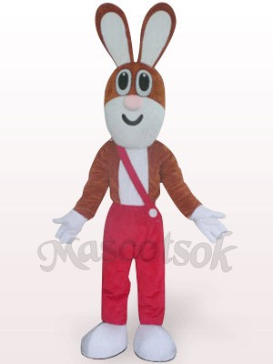 Easter Rabbit In Red Trousers Plush Mascot Costume