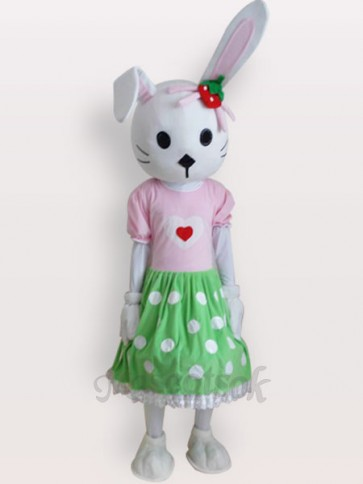 Easter Bunny Rabbit Short Plush Adult Mascot Costume