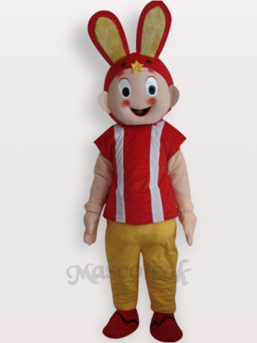 Easter Rabbit Short Plush Adult Mascot Costume