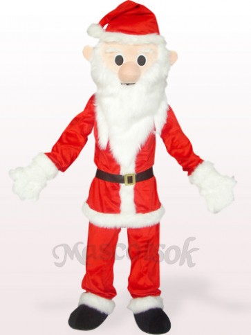 Red And White Santa Plush Mascot Costume