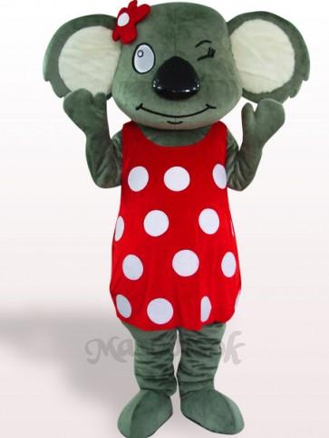 Red Skirt Koala Plush Adult Mascot Costume