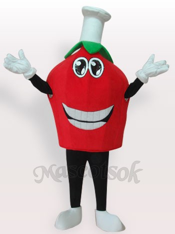 Red Strawberry Short Plush Adult Mascot Costume