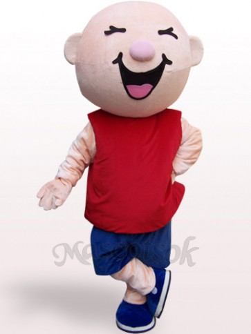 Round Head Boy Plush Adult Mascot Costume