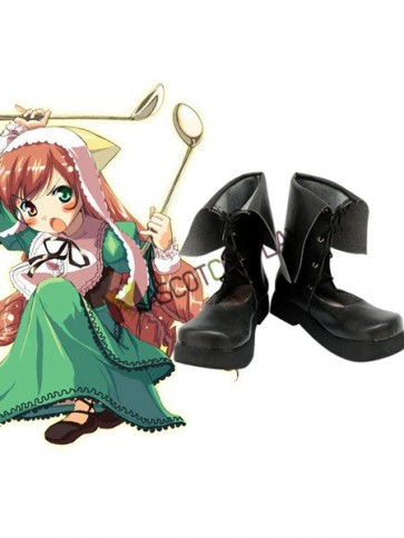 Rozen Maiden Jade Stern Imitated Leather Foam Cosplay Shoes
