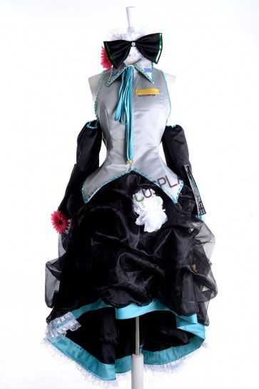 Ruched VOCALOID Hatsune Miku Cosplay Costume