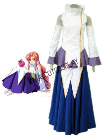 Seed Lacus Clyne 1th Cotton Polyester Cosplay Costume