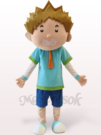 Smart Boy Plush Adult Mascot Costume