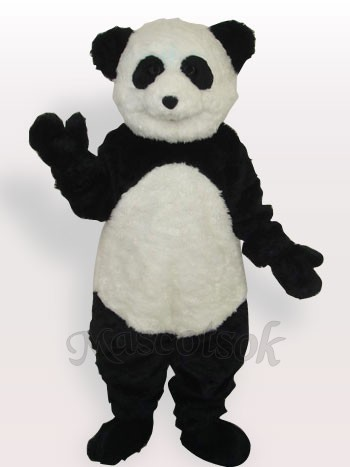 Smiling Panda Long Plush Adult Mascot Costume
