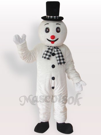 Snowman Short Plush Adult Mascot Costume
