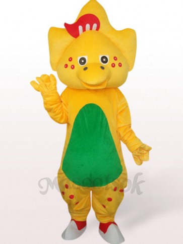 Star Dragon In Yellow Plush Mascot Costume