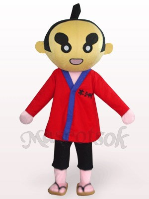 Sumoto People In Red Clothes Plush Mascot Costume