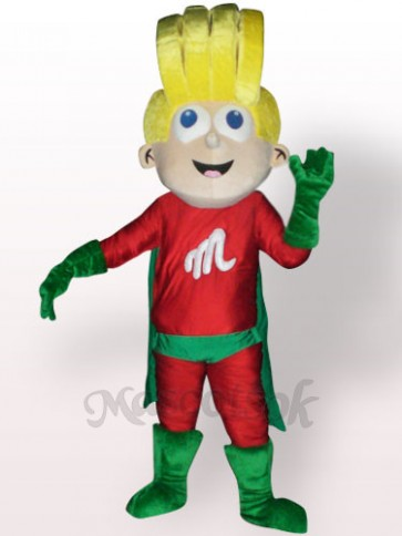Super Boy Plush Adult Mascot Costume