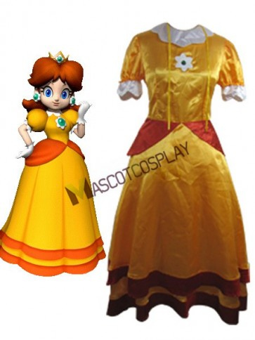 Super Mario Bros Daisy Cosplay Costume