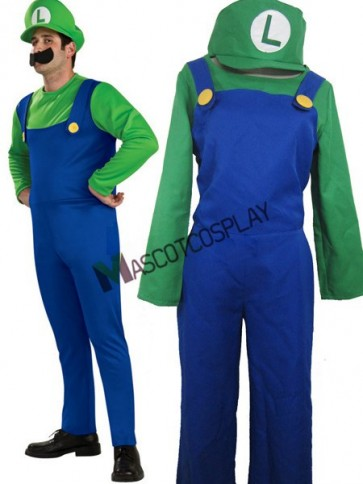 Super Mario Bros Luigi Mario Cosplay Costume