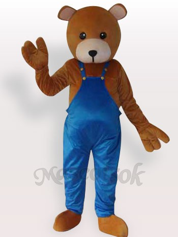 Teddy Bear Short Plush Adult Mascot Funny Costume