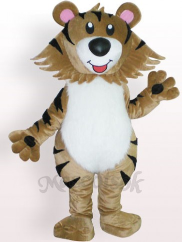 Tiger Plush Adult Mascot Costume