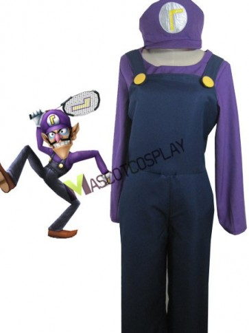 Top-grade Super Mario Bros Waluigi Cosplay Costume