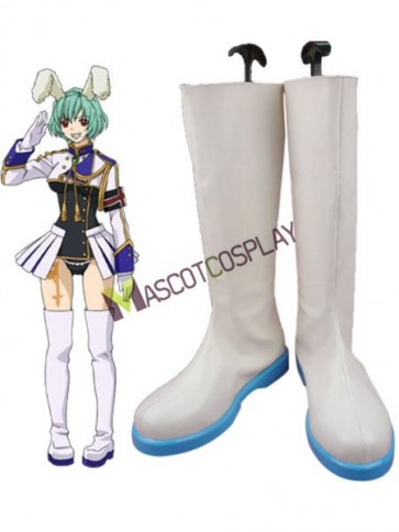 Umineko No Naku Koro Ni White 2'' High Heel Faux Leather Cosplay Shoes