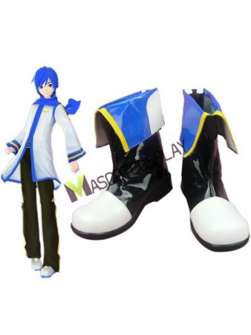 Vocaloid Kaito Imitated Leather Cosplay Shoes