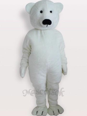 White Bear Short Plush Adult Mascot Costume
