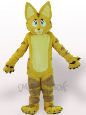 Yellow Cat Plush Adult Mascot Costume