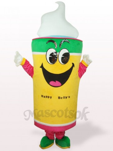 Yellow Ice Cream Plush Adult Mascot Costume