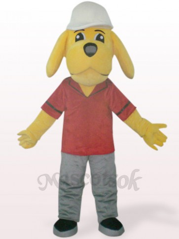 Yellow Naught Dog Plush Mascot Costume