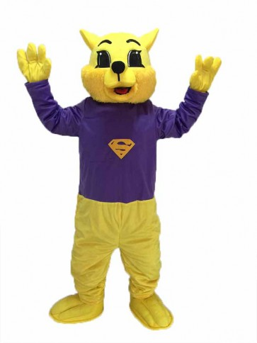 Purple Shirt Winner Wildcat Cat Mascot Costumes