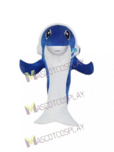 Music Dolphin Cartoon Mascot Costume