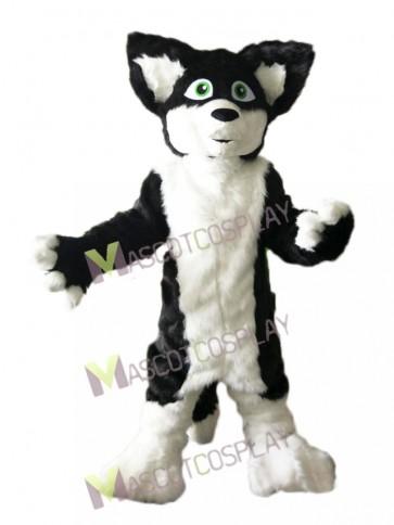 Gray Black and White Husky Dog Fox Mascot Costume