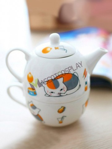 Natsume's Book Of Friends Anime Ceramic Teapot with Cup