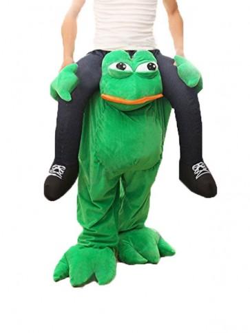 Adult Piggy Back Frog Carry Me Sad Frog Mascot Costume Halloween Fancy Dress Kids Children Christmas Xmas St Patricks Day