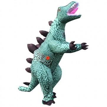 Blue Stegosaurus Dinosaur Inflatable Costume Halloween Christmas Holiday Costume for Adult