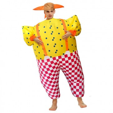 Clown Inflatable Costume Halloween Christmas Jumpsuit for Adult Party Time