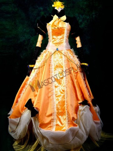 Orange VOCALOID Kagamine Rin / Len Cosplay Costume
